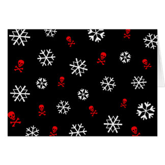 Snowflakes and Skulls Card