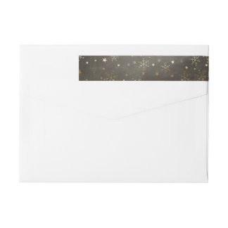 Snowflakes and Stars Wrap Around Address Labels