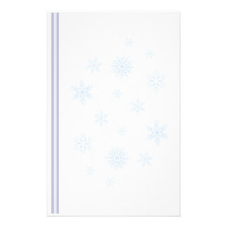 Snowflakes and Stripes Stationery Design