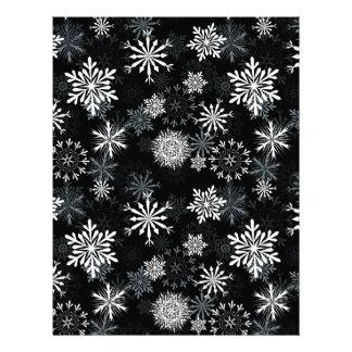 Snowflakes at night letterhead