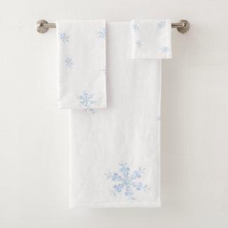 Snowflakes Bath Towel Set