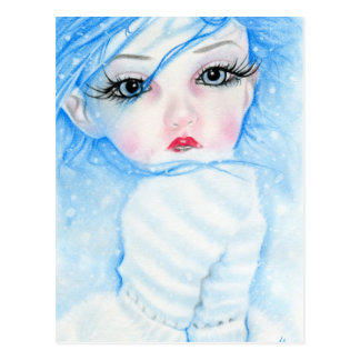 snowflakes beauty postcard