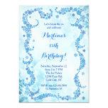 "Snowflakes Birthday Invitation 5"" X 7"" Invitation Card"