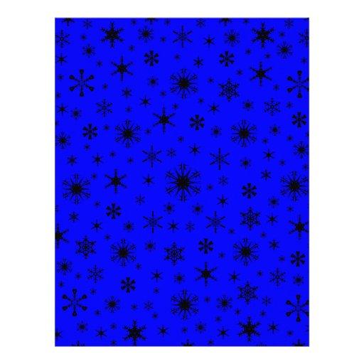 Snowflakes – Black on Blue Letterhead Design
