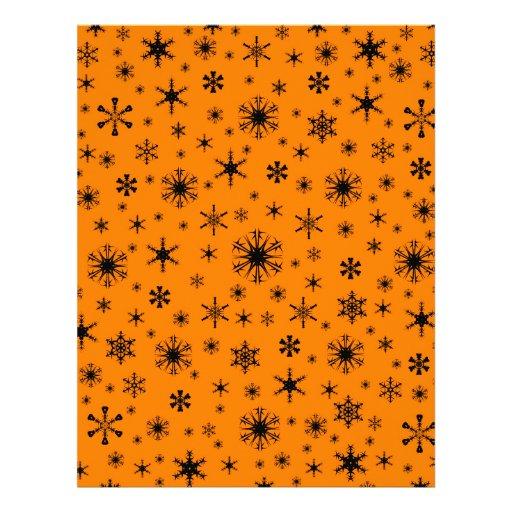 Snowflakes – Black on Orange Letterhead Design