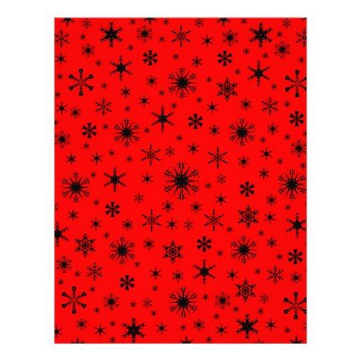 Snowflakes – Black on Red Letterhead