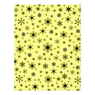 Snowflakes – Black on Yellow Customized Letterhead