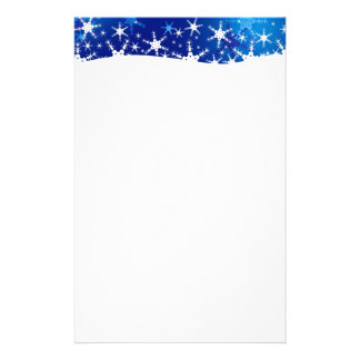 Snowflakes Blue Merry Christmas - Stationery