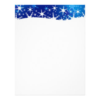 Snowflakes Blue Merry Christmas - Stationery Letterhead Template