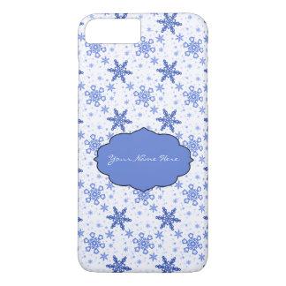 Snowflakes Blue on White iPhone 7 Plus Case