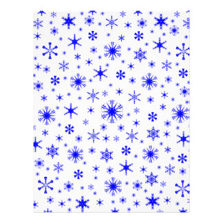 Snowflakes – Blue on White Personalized Letterhead