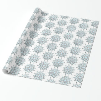 Snowflakes_Blue Wrapping Paper