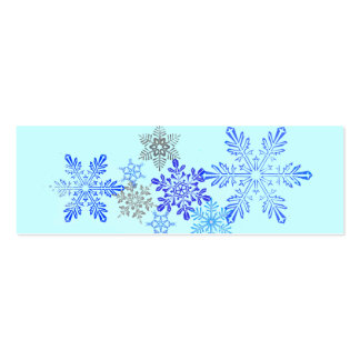 Snowflakes Bookmark Business Card Template