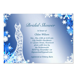Snowflakes Bridal Shower Invitation 3