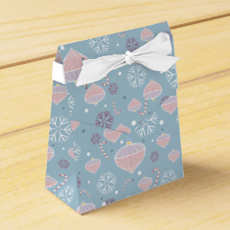 Snowflakes, Candy Canes & Ornaments Tent Favor Box