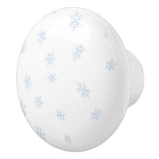Snowflakes Ceramic Knob