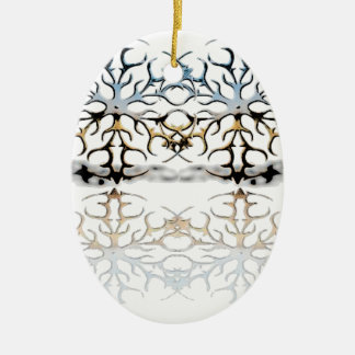 snowflakes ceramic ornament