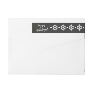 Snowflakes Chalkboard Christmas Address Label