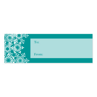 Snowflakes Christmas Gift Tag Business Card Templates