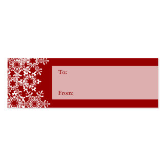 Snowflakes Christmas Gift Tag Mini Business Card