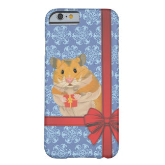 Snowflakes Christmas Hamster Barely There iPhone 6 Case