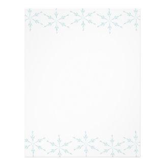 Snowflakes Christmas Letter Paper Letterhead