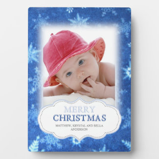 Snowflakes Christmas Photo Plaque