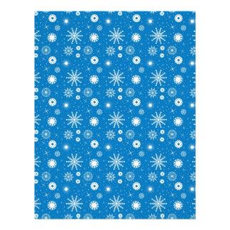 Snowflakes - Christmas scrapbook paper Letterhead Template