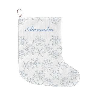 Snowflakes Christmas Stocking
