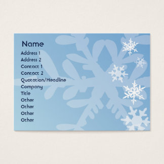 Snowflakes - Chubby Business Card