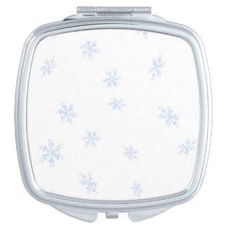 Snowflakes Compact Mirrors