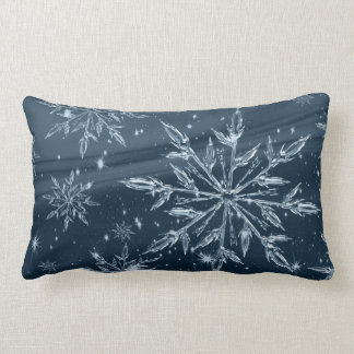 Snowflakes Cotton Lumbar Pillow