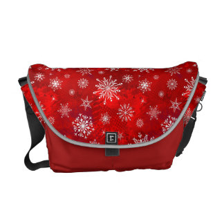 Snowflakes Courier Bag