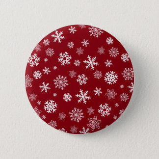 Snowflakes - customize with your favorite color 2 inch round button