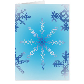 Snowflakes Cutout Blue Card