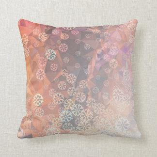 Snowflakes dance throw pillow