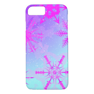 Snowflakes Dancing From Afar iPhone Case