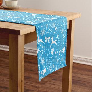 Snowflakes deer pattern - Xmas gifts Short Table Runner