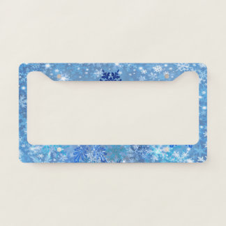 Snowflakes Design License Plate Frame