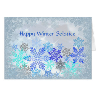Snowflakes Design Winter Solstice Card