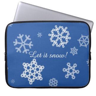 Snowflakes Falling Laptop Sleeve