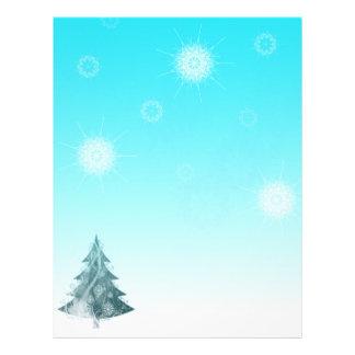Snowflakes falling letterhead