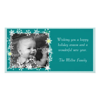 Snowflakes Framed Holiday Photo Card