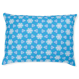 Snowflakes From Afar Dog Bed Large Dog Bed