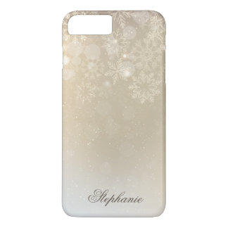 Snowflakes Gold Personalized Holiday | Phone Case
