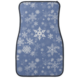 Snowflakes Graphic Customize Color Background on a Car Liners