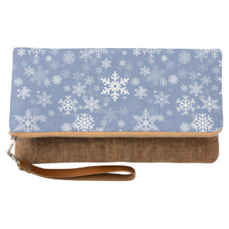 Snowflakes Graphic Customize Color Background on a Clutch