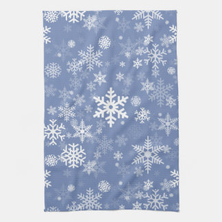 Snowflakes Graphic Customize Color Background on a Kitchen Towel
