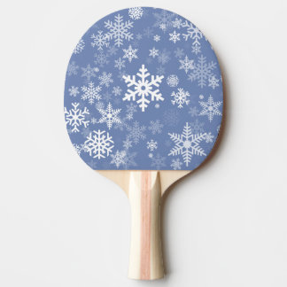 Snowflakes Graphic Customize Color Background on a Ping Pong Paddle