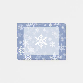 Snowflakes Graphic Customize Color Background on a Post-it® Notes